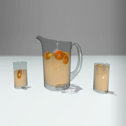 Jug and glasses with juice