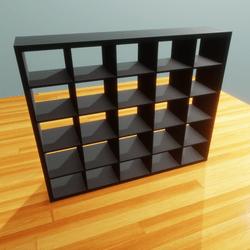 IKEA shelf 5x5 black