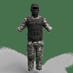 Military Uniform UrbanCamo male