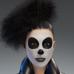 Skin Makeup Panda female