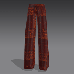 Palazzo Pants african red print