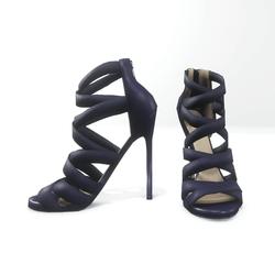 Strappy stiletto sandals for nicci - purple