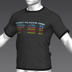 Ready Player One: Leaderboard T-Shirt (Grey) (M)