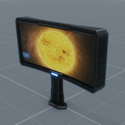 Curved Double-Sided Widescreen Media Surface