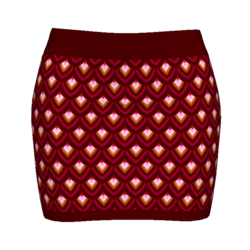 Woman Simple Skirt - Scales