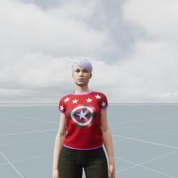 Captain America Female Shirt