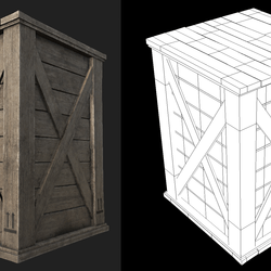 Wooden Crate 04
