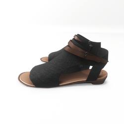 AV 2.0  Open toe textile sandals - black
