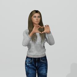 Heart fingers for Female