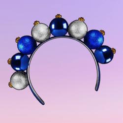 Ornaments Headband Blue Silver