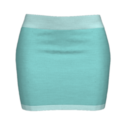Woman Simple Skirt - Light blue