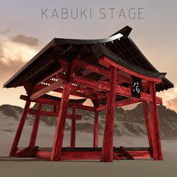 "Japanese ""情伤"" Kabuki  Stage"