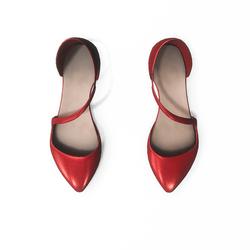 AV 2.0  Flat formal shoes - red
