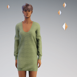 Quilted Sweater Dress Moss - Avatar 2.0