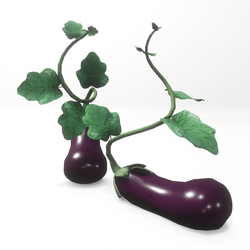Eggplant shoes for Aubergine 2.0