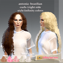antonia -brazilian curls-(right side style)infinity colors