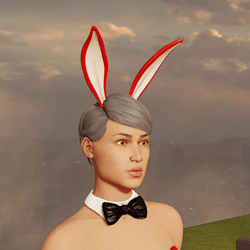 Sexy Bunny Ears - Up - Red