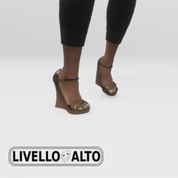 Gold Fusion Wedge Heels