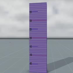 Avatar height ruler