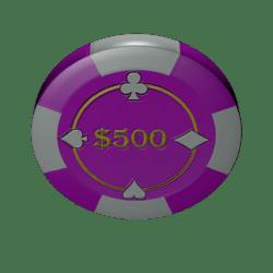 Poker chip 500 (colision)