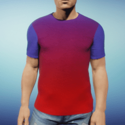 Mens Tee - Purple Red