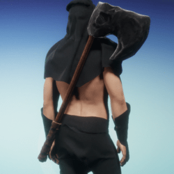 Executioner axe on back