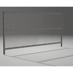 Contractors Chain-link Fence Panel 01