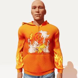 Sam Top5 male hoodie