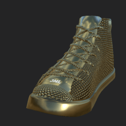 DIAMOND SNEAKERS UNISEX GOLDEN