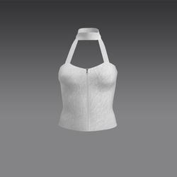 Serena Halter Top - White (MsAquaria)