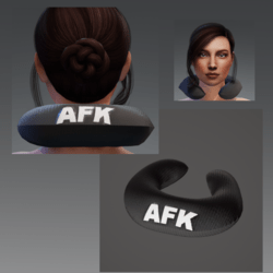 "Travel Pillow - Black AFK- Relieves Heavy Head Syndrome ""HHS"""