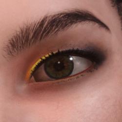 Daphne YellowBlue Eyeshadow
