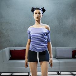 MARINE tee shirt blue night Ss