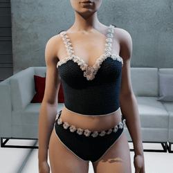 Daisy Black Underwear