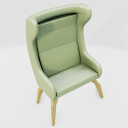 Modern Wingback Chair Green