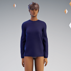 Long Sleeved PulloverSweater Navy - Avatar 2.0