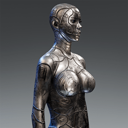 Cyber Synth Android Body Cobalt Curvey