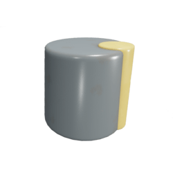 Yellow-accented Knob