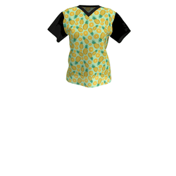 Ladies Pineapple T-shirt (black)