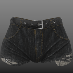 Daphne - Ripped Denim Shorts with pockets showing