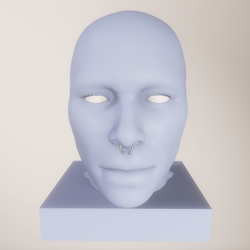 Male piercing for nose A