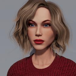 Angela - Sunkiss - Red Makeup - Blue Eyes - Women AV2