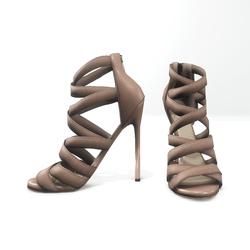 Strappy stiletto sandals for nicci - beige