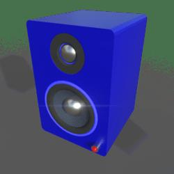 Small Desktop Speakers w/ Glow Ring (Blue)