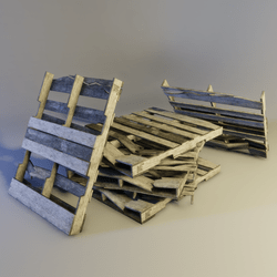 Damaged Wood Pallet