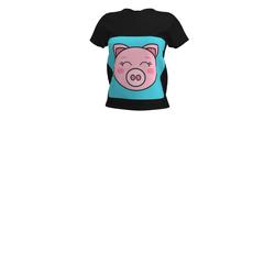 Little piggy face (black)