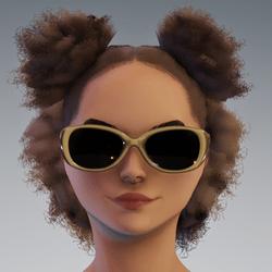 Sunni Glasses AV2 - Tan Dark Lenses
