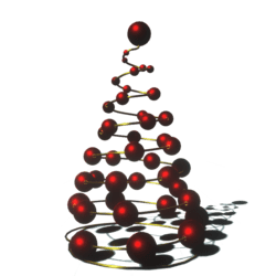 Christmas tree with beads