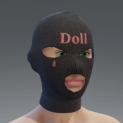 ski mask - black doll - female