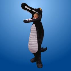 Croc Costume Black (Female)